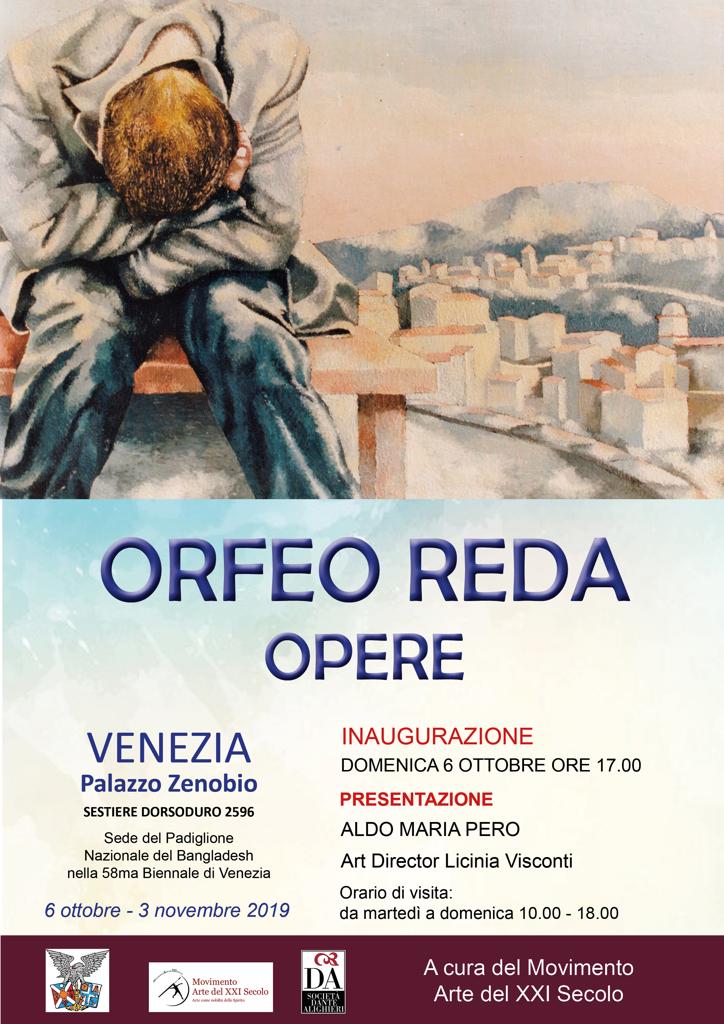 orfeo reda - opere una personale a venezia nelle sale di palazzo zenobio