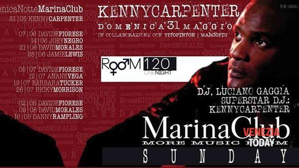 Kenny Carpenter al Marina Club di Jesolo