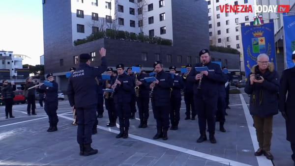 La sfilata a Mestre per San Sebastiano, patrono della polizia locale | VIDEO