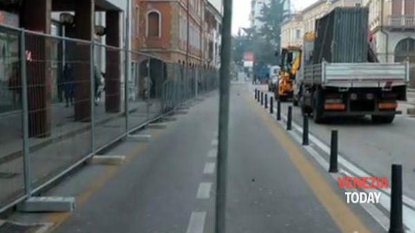Al via la riqualificazione di via Poerio, il video dell'inizio dei lavori