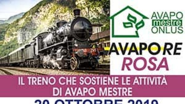 In treno a vapore da Mestre a Feltre per sostenere Avapo