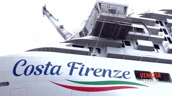 Varata a Marghera la nave da crociera che si ispira a Firenze | VIDEO