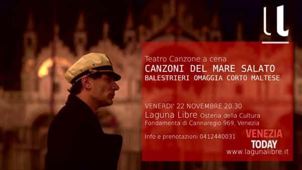 Canzoni del mare salato, Balestrieri omaggia Corto Maltese