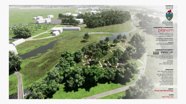 Da Zelarino a Mestre: il parco fluviale del Marzenego prende forma, ecco come sarà | VIDEO