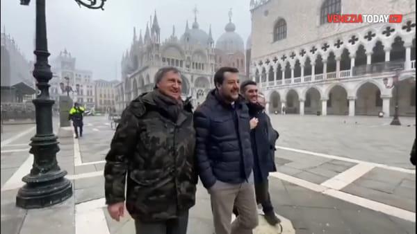 Salvini fa tappa a Venezia: «Servono 150 milioni l'anno per l'acqua alta»