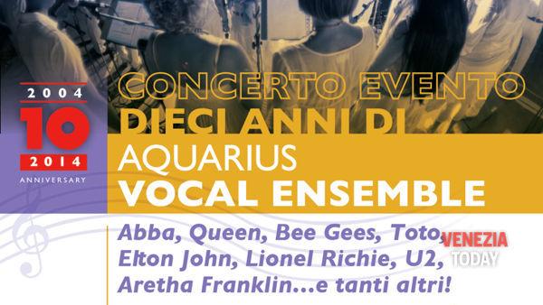 Aquarius Vocal Ensemble festeggia i suoi 10 anni di attività: concerto evento a san Donà di Piave