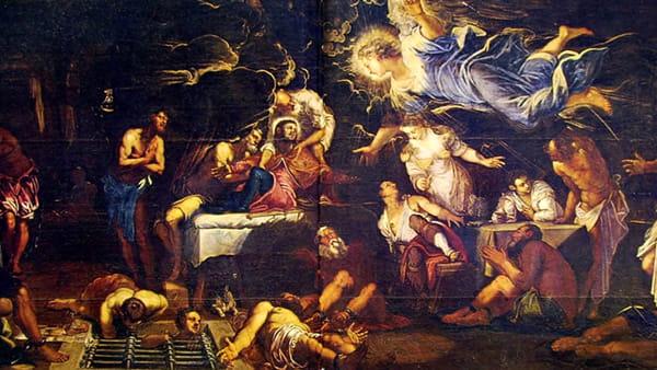 La leggenda di Jacopo Tintoretto che scaccia la strega e salva le particole