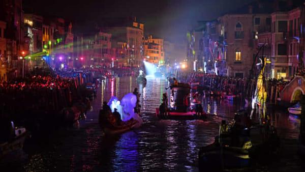 Festa veneziana sull'acqua, grande apertura del Carnevale di Venezia 2019