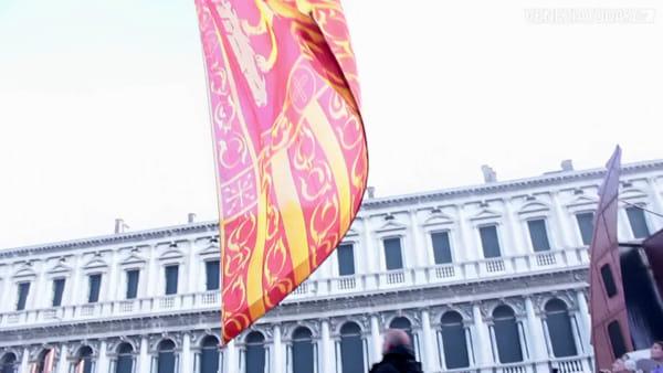 """Il """"leon"""" vola su San Marco e chiude il Carnevale 2019   VIDEO"""