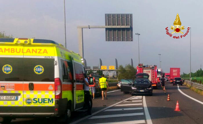 Incidente fra tre macchine a Quarto d'Altino